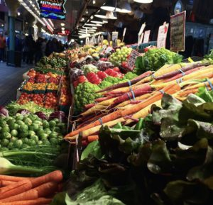 Image for Supplements, vegetable stand in market.