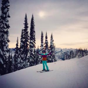Dr. Wendy Ellis skiing